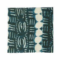 Indigo Beads Fabric By the Yard