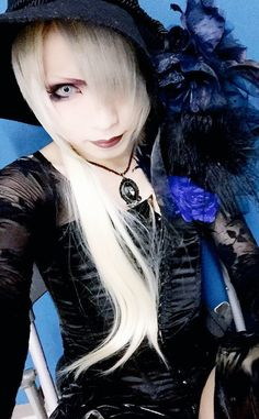 Yuuki. Band member of Japanese visual kei band Lycaon. A spectacle style which largely includes the rich Japanese tradition of crossdressing.