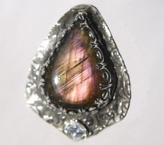 Antiqued Fine .999 Recycled Silver Pink Purple by TheDesignsByKat, $119.95
