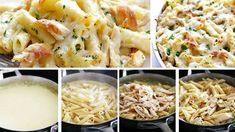 Zapečené těstoviny s luxusní sýrovou omáčkou a kuřecím masem! Hotovo máte za 30 minut! | Milujeme recepty Pasta Recipes, Cooking Recipes, Other Recipes, Pasta Salad, Cauliflower, Macaroni And Cheese, Mozzarella, Food Porn, Food And Drink