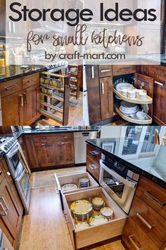 14 Clever Storage Ideas for Small Kitchens - Craft-Mart Clever Storage Ideas for Small Kitchens - narrow, wide, and custom pullouts for easy-access Tidy Kitchen, Small Kitchen Organization, Small Kitchen Storage, Kitchen Cabinet Storage, Home Organization Hacks, Kitchen Cabinets, Modern Farmhouse Kitchens, Small Kitchens, Kitchen Decor Items