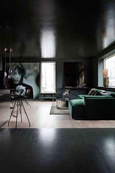 A moody penthouse in Copenhagen