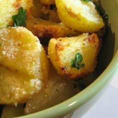 Parmesan roasted potatoes are my new favorite side dish.