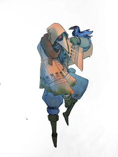 plauge Zauberer und Haustierkrähe – – About Anime Character Creation, Fantasy Character Design, Character Drawing, Character Design Inspiration, Character Illustration, Game Character, Character Concept, Concept Art, Dnd Characters