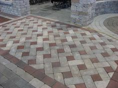 Cheap Patio Pavers Design, Pictures, Remodel, Decor and Ideas Patio Pavé, Cheap Patio Pavers, Paver Walkway, Brick Pavers, Walkways, Driveways, Paver Sand, Paver Edging, Brick Driveway