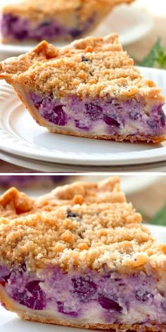 Easy No Bake Desserts, Sweet Desserts, Just Desserts, Delicious Desserts, Sweet Recipes, Yummy Food, Pie Dessert, Dessert Recipes, Blueberry Desserts