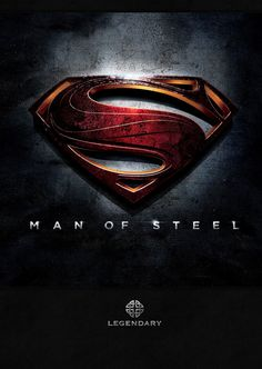 Man of Steel Poster - Not sure I like the reworking of the logo.