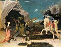Paolo Uccello, San Giorgio e la principessa (1456 circa). Buon compleanno Paolo Uccello! Il grande artista nasceva a Firenze il 15 giugno 1397.