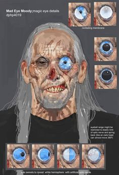 Mad-Eye Moody concepts, Goblet of Fire, Dermot Power .. it's odd because this is just what I imagined his eye to look like, as opposed to the one they ended up using in the end..