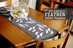 """Be You Bravely"" MOPS Centerpiece Idea (not sure how cheap table runners get.this might get too pricey, but a cute idea) Dyi Crafts, Diy Craft Projects, Craft Ideas, Diy Ideas, Sewing Projects, Cheap Table Runners, Be You Bravely, Craft Night, Diy Tutorial"