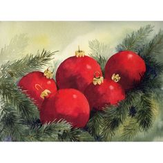 Christmas Watercolor Demonstration | Notes PAINTING Practical Guidelines (Secondary Level) Nature Study 3 ...