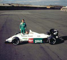 """koheiterazono: """" Thierry Boutsen and Teo Fabi, Benetton B187 launch, 1987 """""""