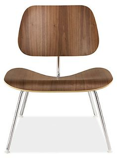 Eames® Molded Plywood Lounge Chair with Metal Legs - Chairs - Living - Room & Board