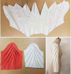 Sleeve drafting inspiration courtesy of Just amazing!TR Cutting Masters from around the world - The Shapes of Fabric Dress Sewing Patterns, Clothing Patterns, Skirt Patterns, Coat Patterns, Blouse Patterns, Mode Origami, Sewing Sleeves, Pattern Draping, Sleeves Designs For Dresses