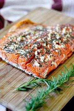 12-minute rosemary garlic roasted salmon