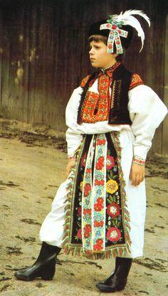 Blank Template. Slovak Folk Costumes. Slovakia
