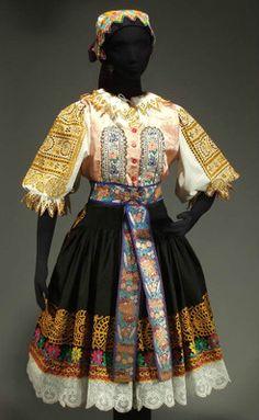 Authentic Slovak folk costume from Podolie / Krakovany region