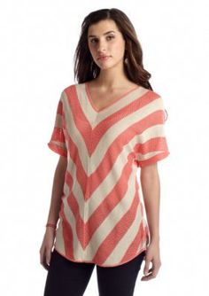 New Directions  V Stripe Sweater