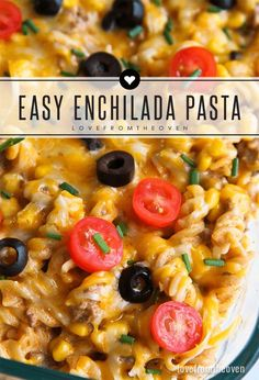 Easy One Pot Enchilada Pasta Recipe