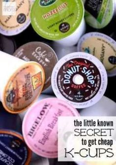 Love your Keurig? Hate paying for k-cups? Here is a little known secret on how to get cheap k-cups so you can enjoy premium coffee every day.