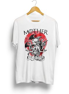 Men's Mother of Dragons T-shirt  Featuring Daenerys Targaryen and her Dragon's from Game of Thrones