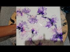 Used an air compressor set at 15 psi, however, the same effect can be made by simply blowing through a straw. Acrylic Tips, Acrylic Painting Lessons, Pour Painting, Acrylic Art, Alcohol Ink Crafts, Alcohol Ink Art, Acrylic Pouring Art, Fluid Acrylics, Diy Arts And Crafts