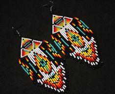 Boucles doreilles Boho Tribal Native par BiuluArtisanBoutique