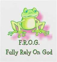 Frog--so cute for a young women's camp theme or handout