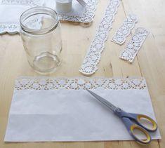 Hochzeits-Special Windlichter Kerzen Deko Glas Spitze DIY Anleitung Variante 1…