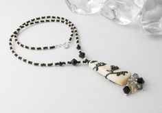 """""""Gothica"""" Lampwork Neckalce by Ciel Creations"""