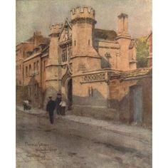 Posterazzi Winchester 1910 Memorial Gateway Winchester College Canvas Art - Wilfrid Ball (24 x 36)