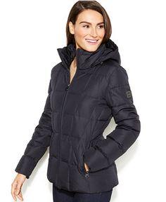 Calvin Klein Hooded Quilted Down Puffer Coat - Calvin Klein Coats - Women - Macy's. All mine :)