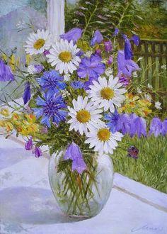 Daisy Drawing, Flower Painting Canvas, Still Life Flowers, Sharpie Art, Beautiful Rose Flowers, Flower Doodles, Still Life Art, Acrylic Art, Flower Cards
