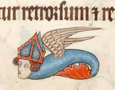 A strange monster Bishop. Luttrell Psalter, England ca. 1325-1340. British Library, Add 42130, fol. 79r