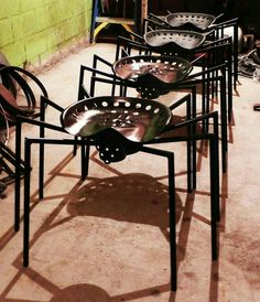 Spider wrought iron custom outdoor bar seating