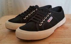 Women's Superga Black EU 39 Sneaker Shoes US Size 8 #Superga #SkateShoes