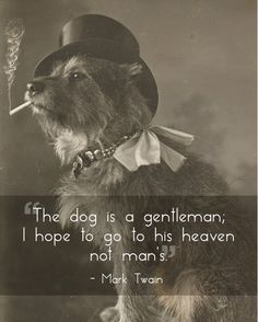 Mark Twain Quote Dogs