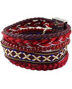 pulsera perla-rojo 7.67