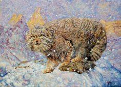 "Saatchi Art Artist L C; Painting, ""Manul Winter."" #art"