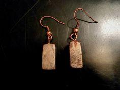 Buckeye burl earrings copper hardware Copper Earrings, Drop Earrings, Buckeye Burl, Wood Necklace, Wood Design, Wood Turning, Hardware, Things To Sell, Jewellery