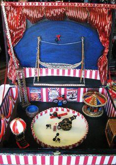 CIRQUE du FLEA OOAK Neon Vaudeville Sideshow Circus Carnival Music Box