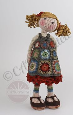 Granny Square Crochet Pattern, Crochet Chart, Knit Crochet, Crochet Toys Patterns, Stuffed Toys Patterns, Knitted Dolls, Crochet Dolls, Foam Rollers Hair, Quilt Batting