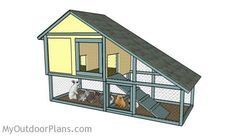 Free Rabbit Hutch Plans | Free Outdoor Plans - DIY Shed, Wooden Playhouse, Bbq, Woodworking Projects
