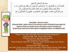 MAKSUD BACAAN DALAM SOLAT - GAMBAR KARTUN SOLAT (Doa Al Fatihah)