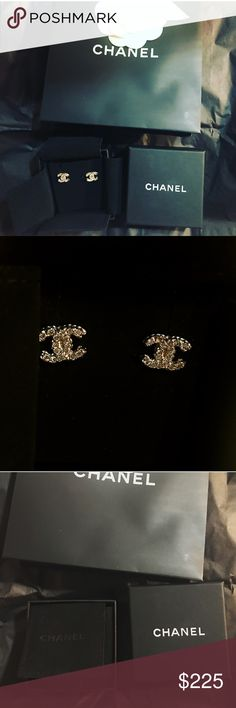 Chanel Earrings CC Classic CC Chanel Earrings 💯 authentic From Paris Chanel Boutique Store. CHANEL Jewelry Earrings