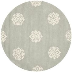 Safavieh Handmade Soho Gray/Ivory New Zealand Wool Area Rug (6' Round)