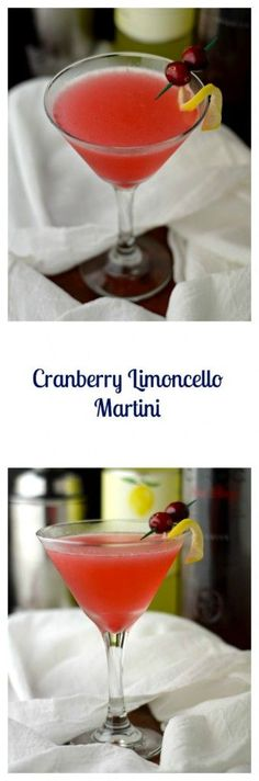 Cranberry Limoncello Martini is so good and you won't believe how easy it is to make.  It's the perfect combination of a sweet and tart flavorful cocktail | Beer Girl Cooks