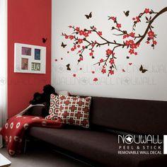 Kirsche Blüte Branch Blume Baum Schlafzimmer von NouWall auf Etsy