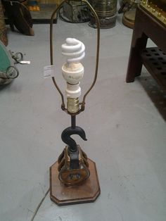 Lamp, Brass Block Pulley from Black Dog Salvage