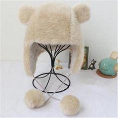 Imitation fox wool rabbit hair Warm Women's Bomber Hats
